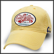 Load image into Gallery viewer, Relaxed Cotton Twill Hat with Red Script Oval Logo