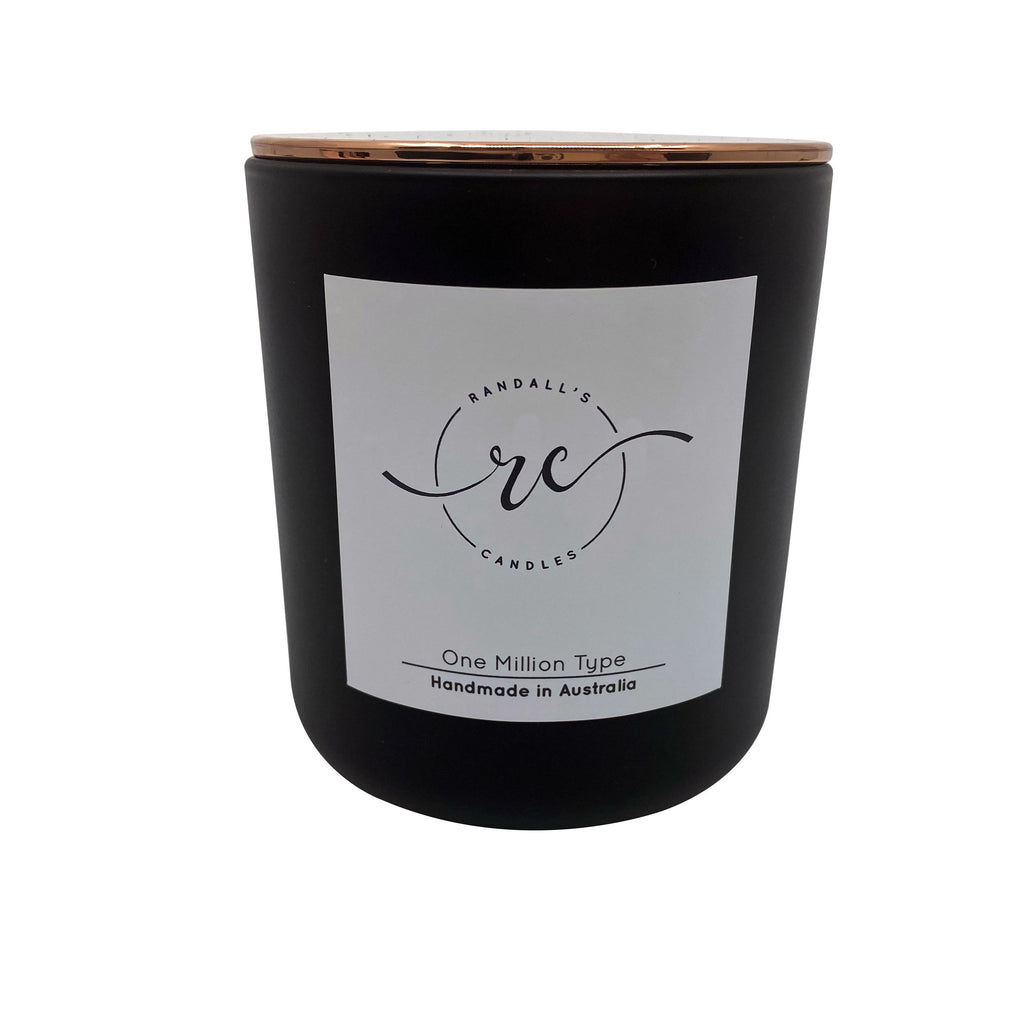 Matte Black Copper Candle