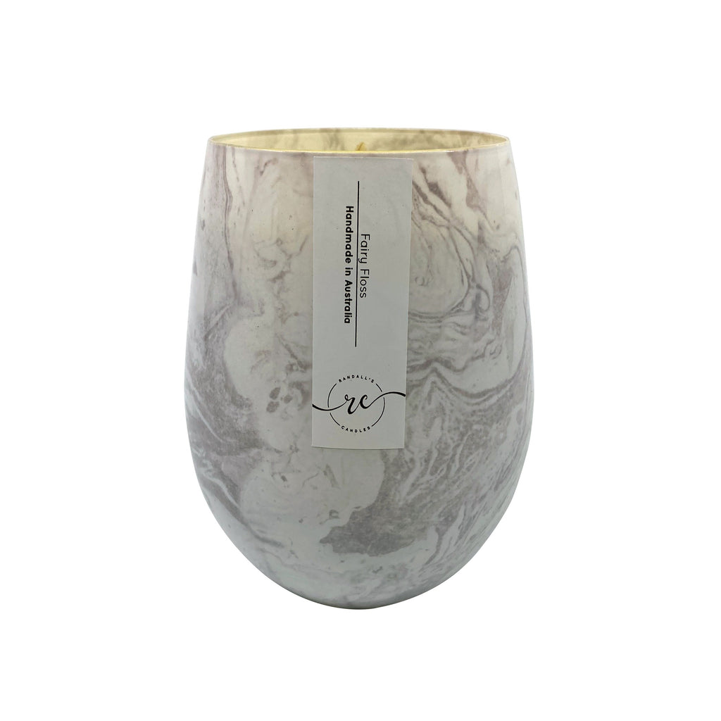Marble White Candle Jar