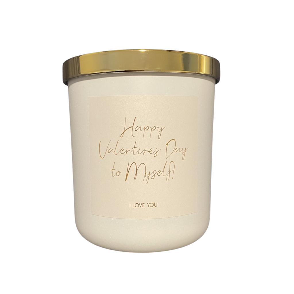 Happy Valentines Day to Myself Candle