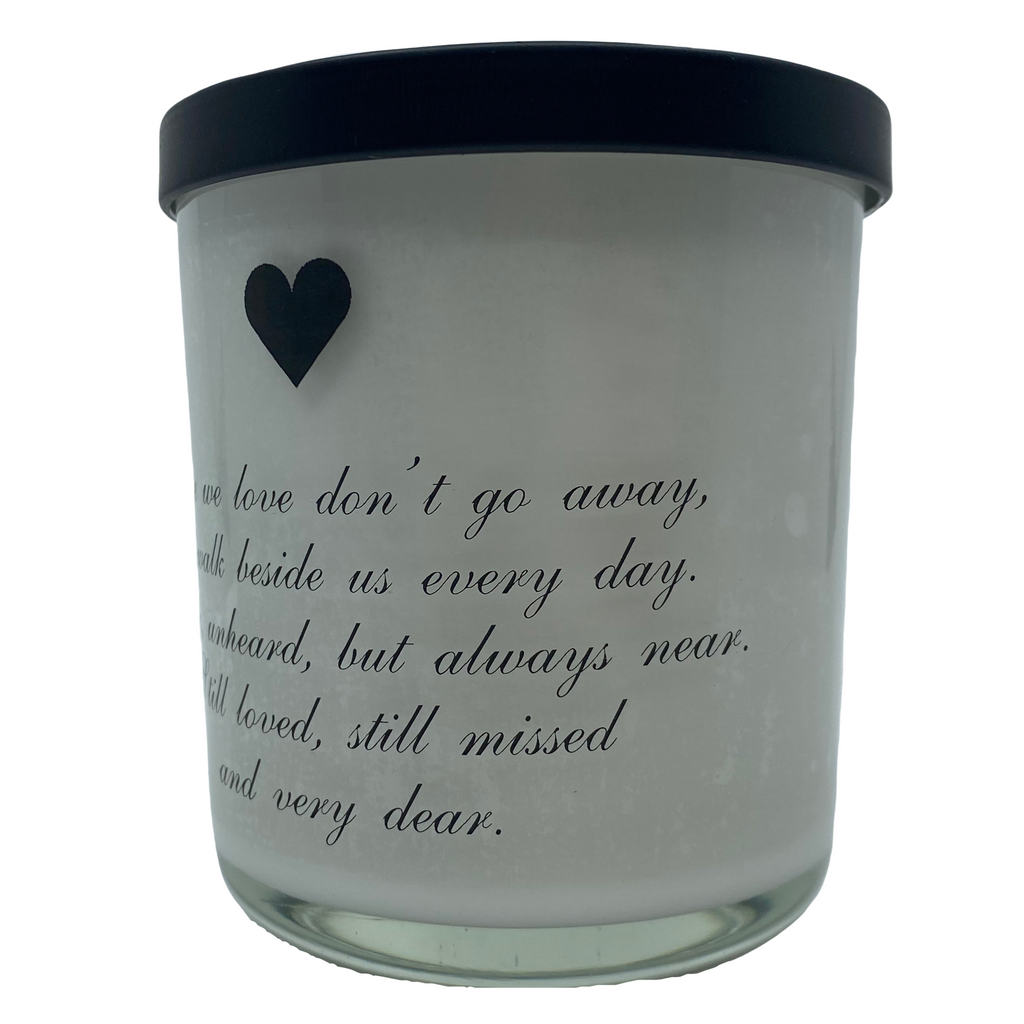Sympathy Quote Candle White