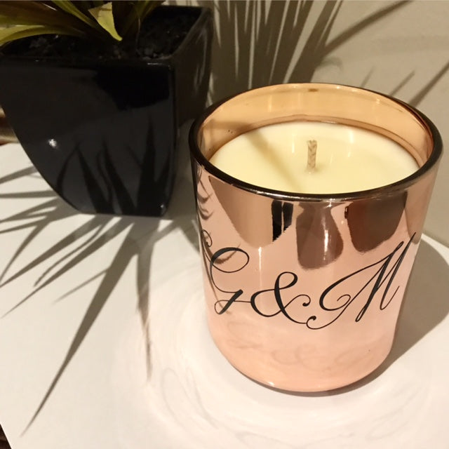Copper Personalised Candle Vogue