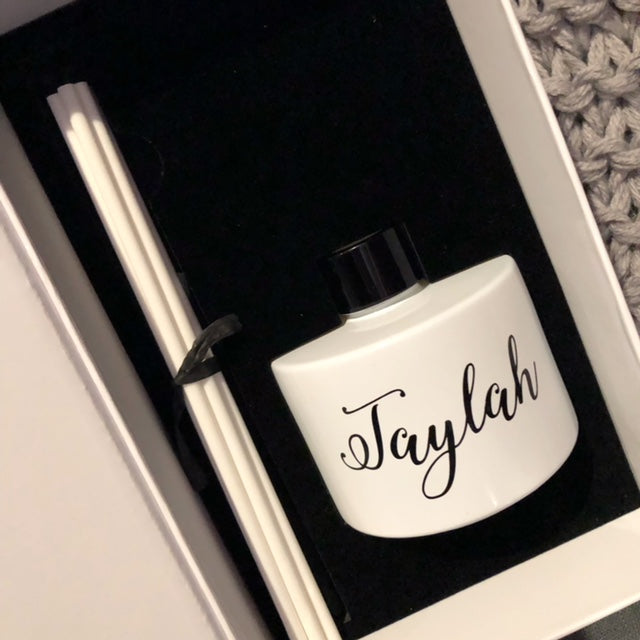White Personalised Luxury Diffuser