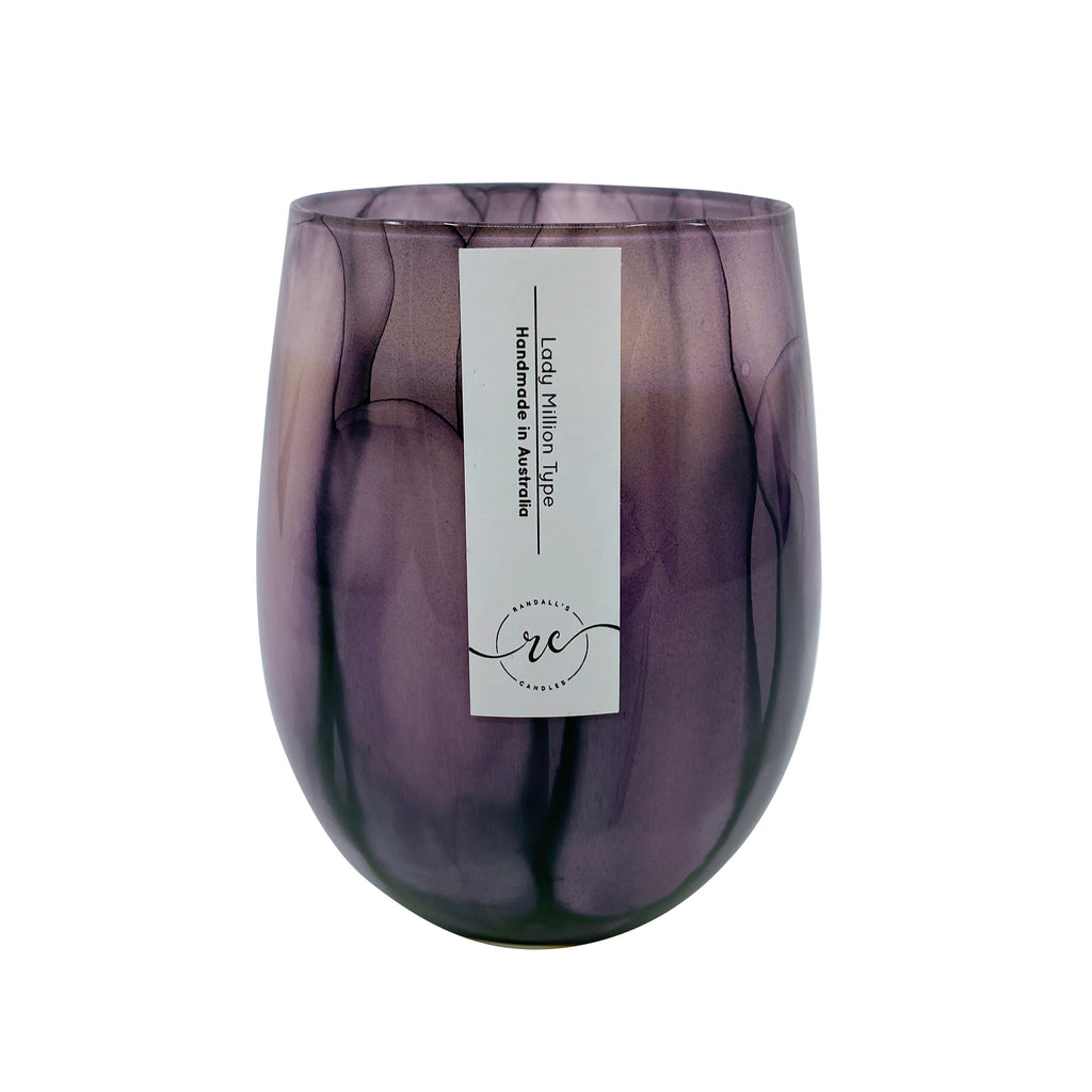 Tie Dye Purple Candle