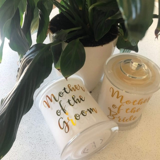 Mother of the Groom Bride Candle