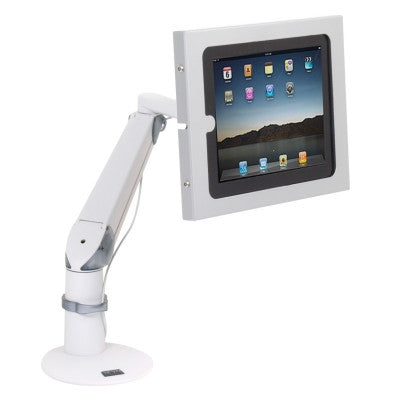Innovative EVO arm with secure iPad holder, no home button access