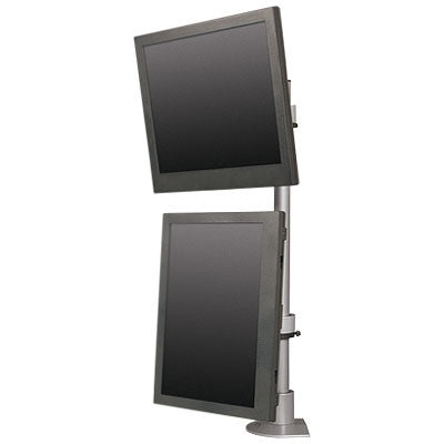 Innovative 9136-D-FM - Articulating dual monitor mount