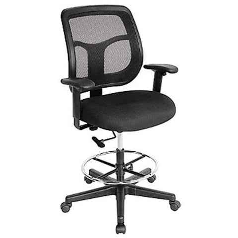 Eurotech Apollo Mesh Back and Fabric Seat Drafting Chair DFT9800