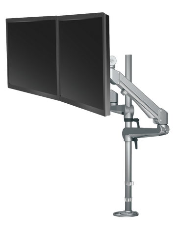 ESI Pole Mounted Dual Monitor Arm EDGE2-16