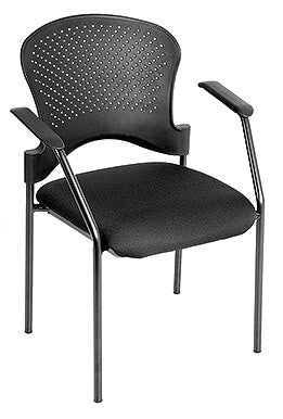 Eurotech Breeze Black Frame Guest Chair No Casters BLACK FS9077