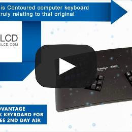 Kinesis Advantage KB500USB/QD-blk Keyboard for PC & Mac w/ Free 2nd Day Air and 8GB USB Drive