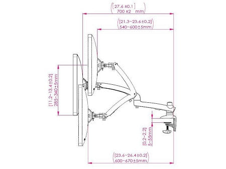 Ergotech Freedom Mac Monitor Arm FDM-MAC-S01