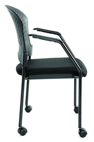 Eurotech Breeze Black Frame Guest Chair With Casters BLACK FS9070