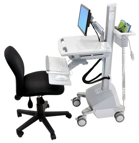 Ergotron StyleView EMR Cart with LCD Arm LiFe Powered SV42-6202-1