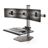The Winston Triple Freestanding Sit-Stand Workstation WNST-3-FS