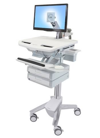 Ergotron StyleView Cart with LCD Arm 2 Drawers SV43-1220-0