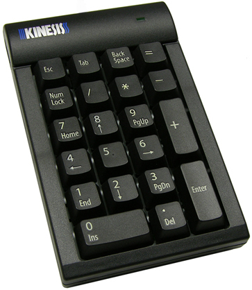 Kinesis AC210USB-BLK Low-Force Numeric Keypad for PC W/ Free 2nd Day Air and 8GB USB Drive