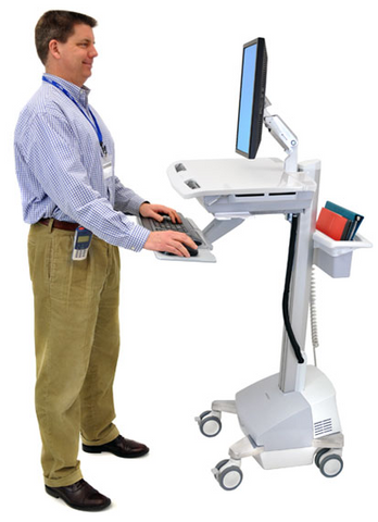 Ergotron StyleView EMR Cart With LCD Arm SLA Powered SV42-6201-1