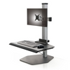 The Winston Compact Single Freestanding Sit-Stand Workstation CM-1-FS-S