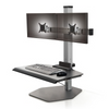The Winston Compact Dual Freestanding Sit-Stand Workstation WNST-2-FS-S