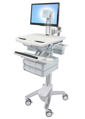 Ergotron StyleView Cart with LCD Pivot 6 Drawers SV43-1360-0
