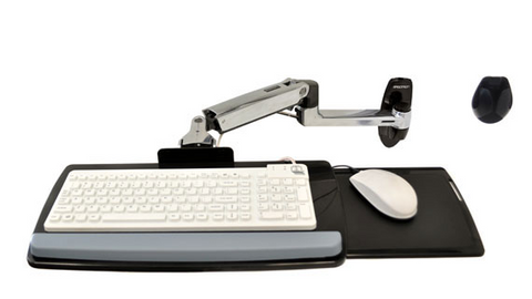 Ergotron LX Wall Mount Keyboard Arm Keyboard/Mouse Arm Mount Tray 45-246-026