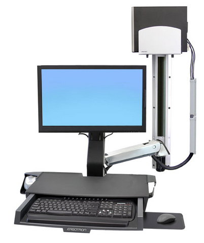 Ergotron StyleView Sit-Stand Combo System with Worksurface 45-270-026