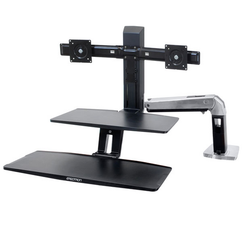 Ergotron WorkFit-A With Suspended Keyboard Dual Stand 24-392-026