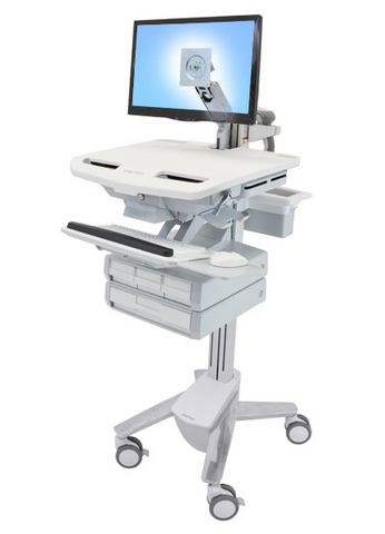 Ergotron StyleView Cart with LCD Arm 4 Drawers SV43-1240-0