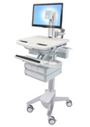 Ergotron StyleView Cart with LCD Pivot 4 Drawers SV43-1340-0