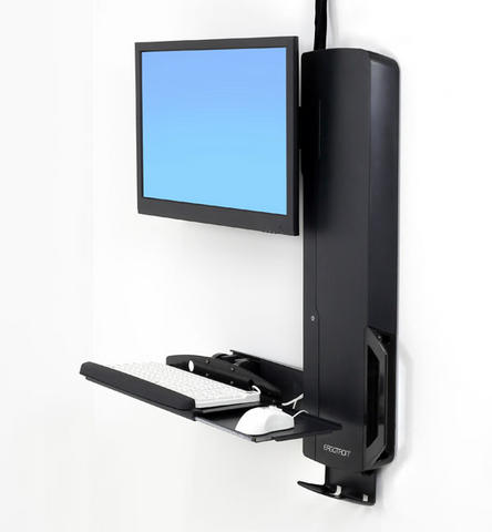 Ergotron StyleView Sit-Stand Vertical Lift High Traffic Area (black) 61-081-085