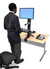 Ergotron WorkFit-S Single HD Sit-Stand Workstation Stand 33-344-200