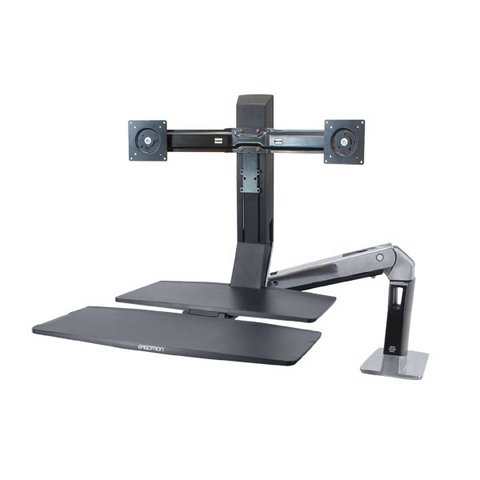Ergotron WorkFit-A Dual With Worksurface+ Stand 24-316-026
