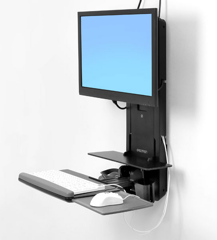 Ergotron StyleView Sit-Stand Vertical Lift Patient Room (black) 61-080-085