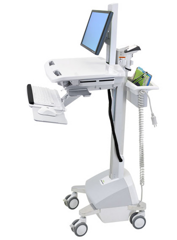 Ergotron StyleView EMR Cart with LCD Pivot LiFe Powered SV42-6302-1