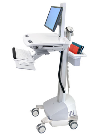 Ergotron StyleView EMR Cart with LCD Pivot SLA Powered SV42-6301-1