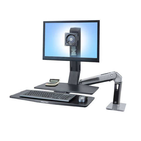 Ergotron WorkFit-A Single HD With Worksurface+ Stand 24-314-026