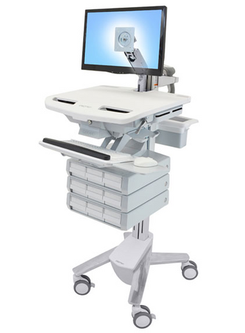 Ergotron StyleView Cart with LCD Arm 9 Drawers SV43-1290-0