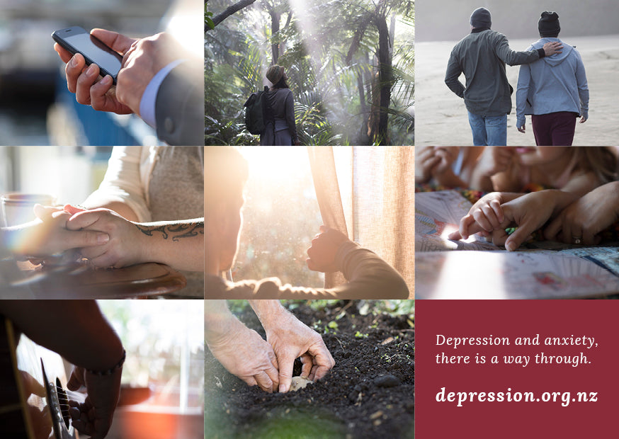 Depression.org.nz Postcards - A6 (Pack of 50)