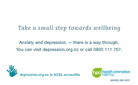 Depression.org.nz Wallet Cards - (Pack of 50)