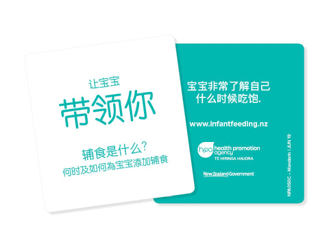 Infant Feeding Guide Z Card - Mandarin