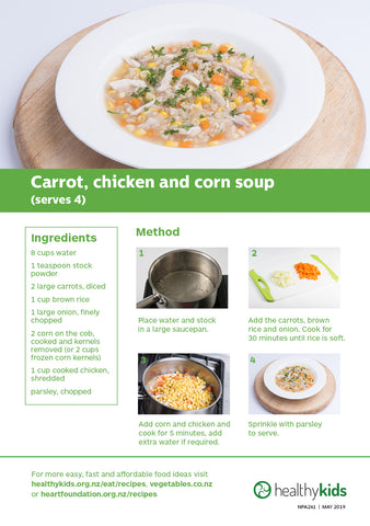 Easy meals with vegetables: Carrots (pads) - A5 Size