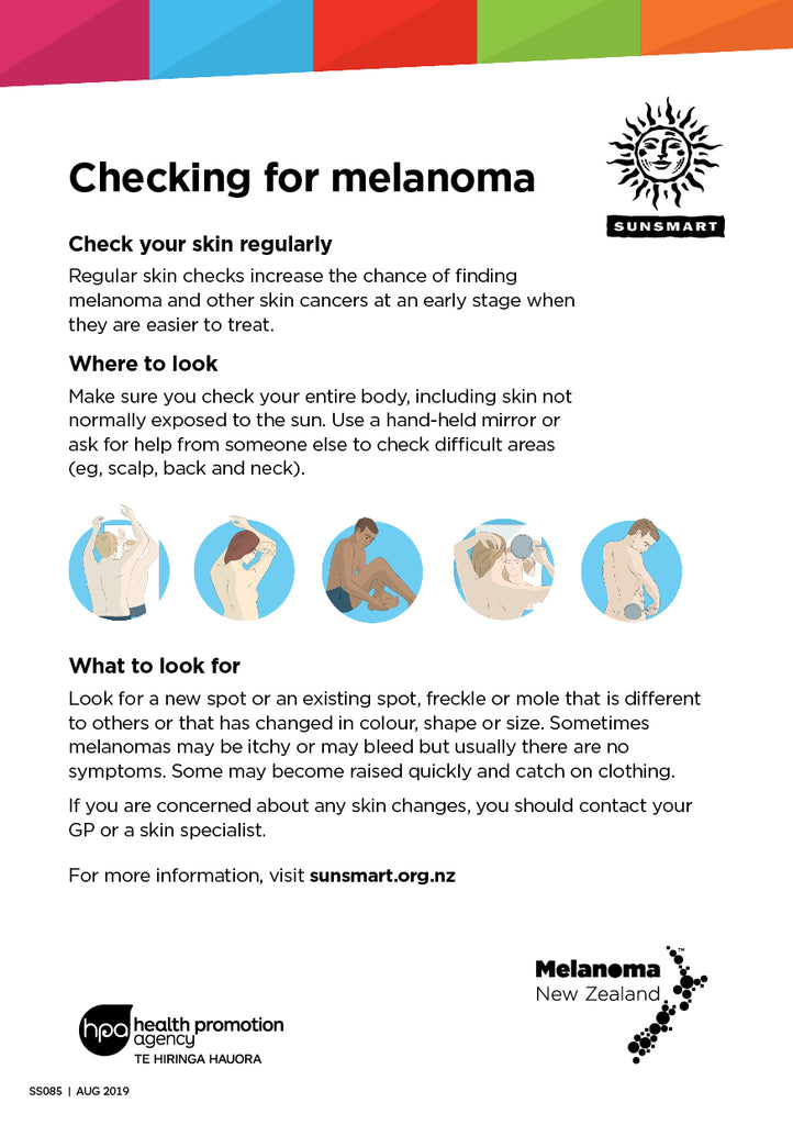 Checking for Melanoma A5 patient flyer (single-sided)