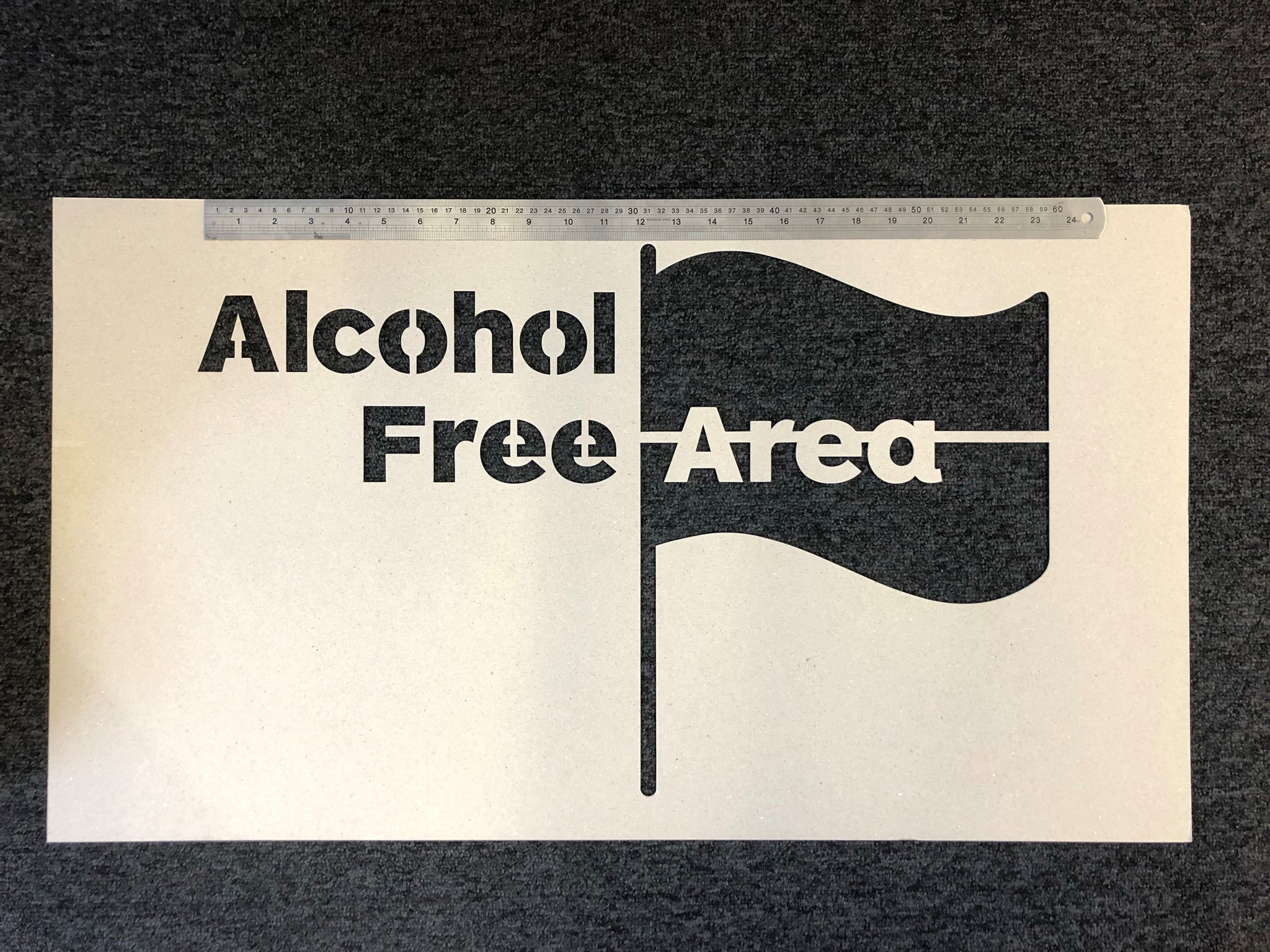 Alcohol Free Area Stencil - Large