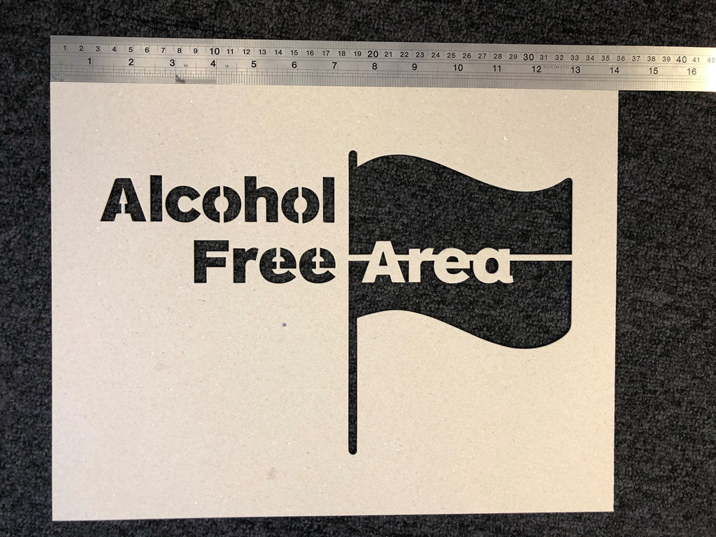 Alcohol Free Area Stencil - Small