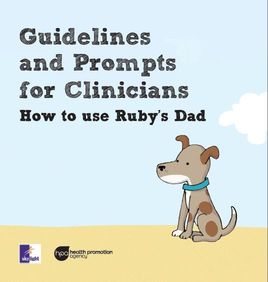 Ruby's Dad children's book with guidelines for clinicians