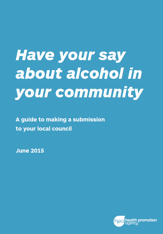 Have your say about alcohol in your community