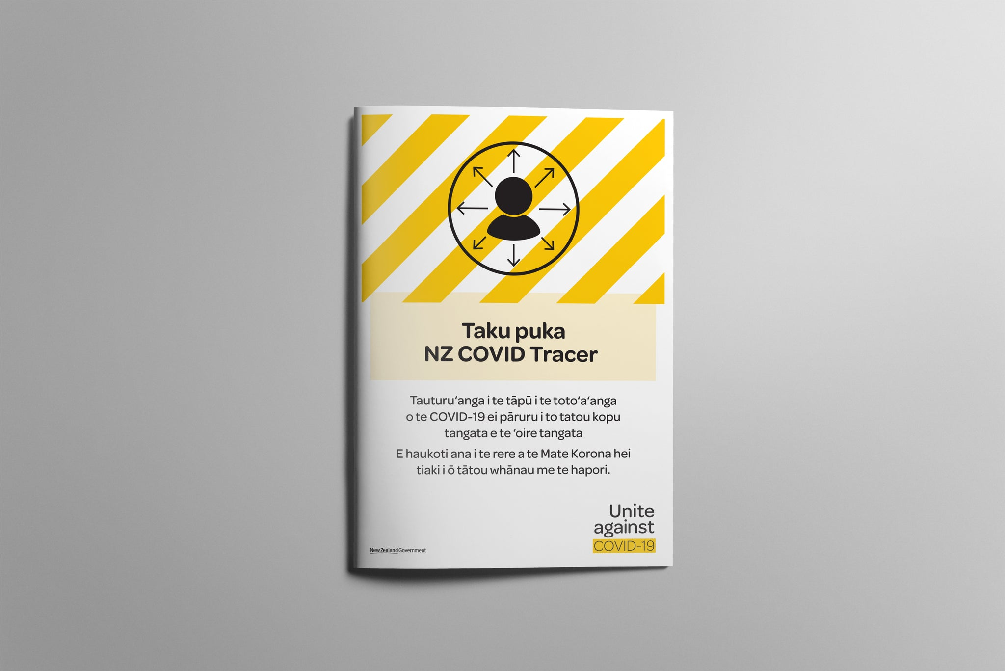 NZ COVID Tracer booklet A5 - Cook Island Māori (bundle of 10)