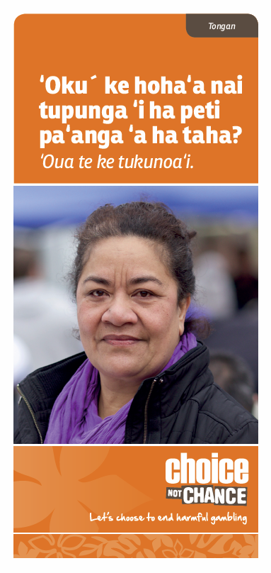 Choice Not Chance brochure - Tongan
