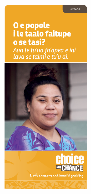Choice Not Chance brochure - Samoan